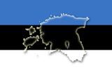 estonia estland flag flagge shape poster