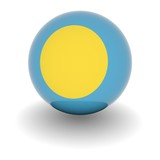 High resolution ball with flag of Palau poster