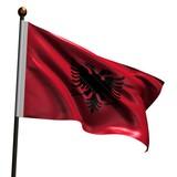 High resolution flag of Albania poster
