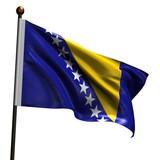 High resolution flag of Bosnia and Herzegovina poster