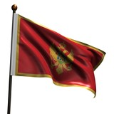 High resolution flag of Montenegro poster