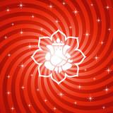 Lord Ganesha On Sparkling Lotus Background poster