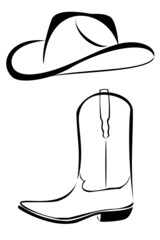 Tribal Cowboy hat and boot