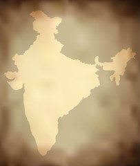 Vector Grungy Indian Map