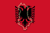 albania albanien flag flagge shape poster