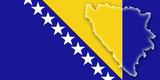 bosnia herzegovina bonien herzegowina flag shape flagge poster