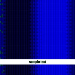 Blue Pixel Raster Template Vector, Easily Editable