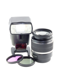 Photo-lens, filter, photo flash.