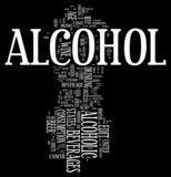 Alcohol and wine word cloud poster