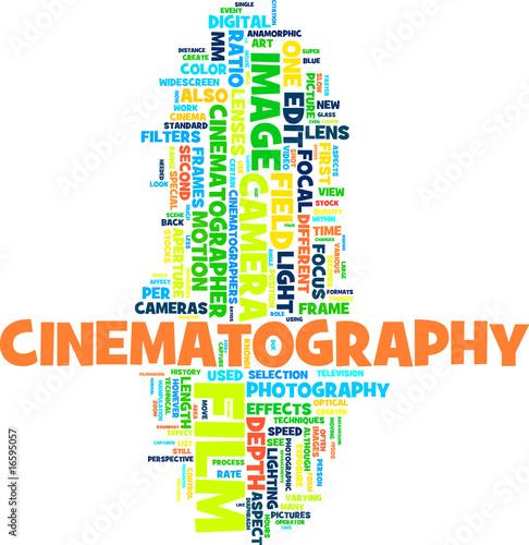 Cinema word cloud
