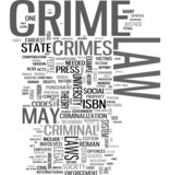 Crime and Law word cloud poster