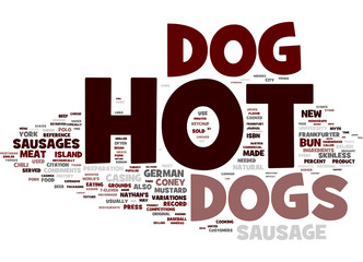 Hotdog tag cloud