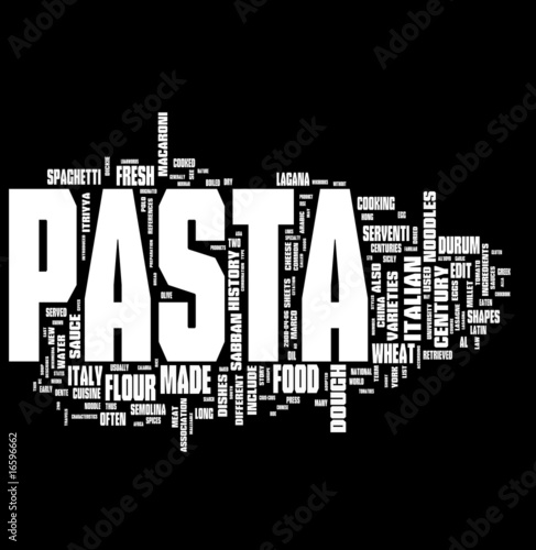 Pasta tag cloud