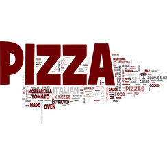 Italian Pizza word cloud