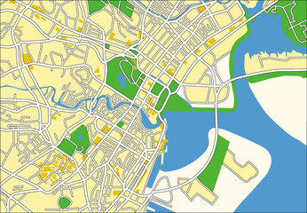 vector map of Singapore.