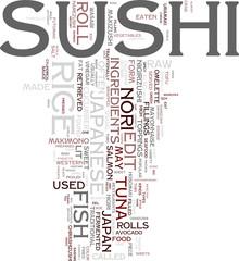 Sushi tag cloud