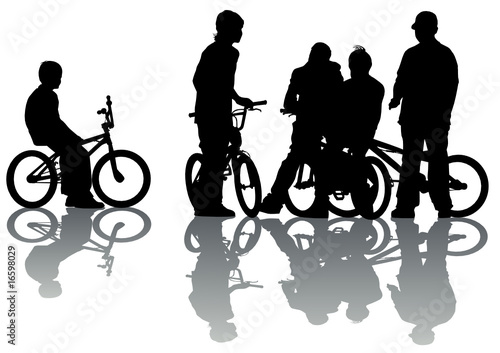 Cyclists group teen