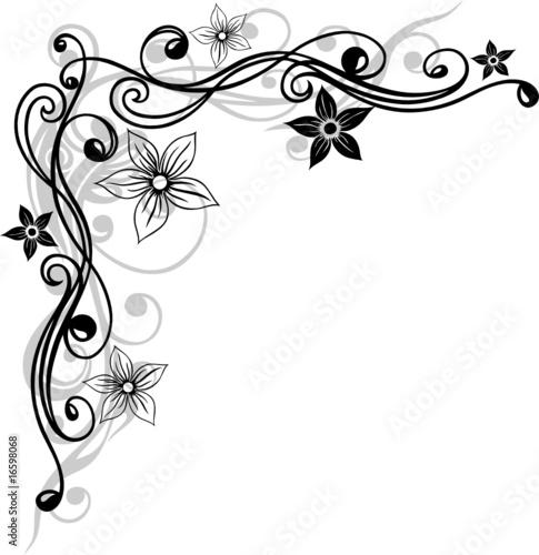 blume ranke filigran floral mit bl ten schwarz grau von christine krahl lizenzfreier vektor. Black Bedroom Furniture Sets. Home Design Ideas