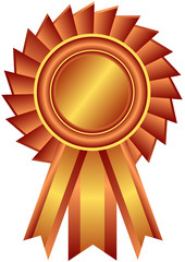 Bronze award with ribbon (vector)