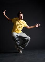 cool b-boy dancing
