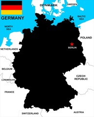 Germany Map black