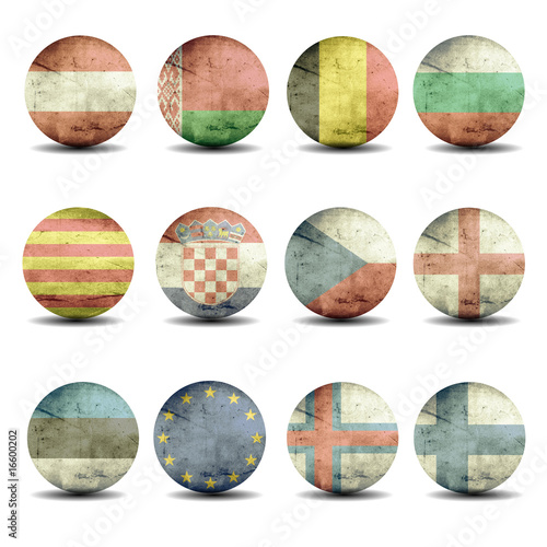 european flags set - part 1