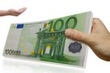 100 euro, geld, bank, kredit poster