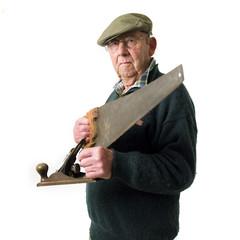 Senior man with tools