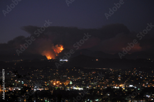 Southern California Station Fire at Night