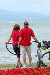 Ciclisti sul Lago di Costanza