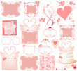 Set of cute pink elements