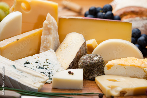 Plexiglas Zuivelproducten Assortiment et plateau de fromage