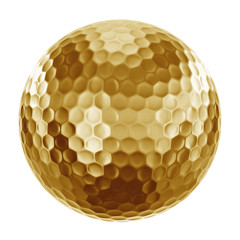 Golfball in gold