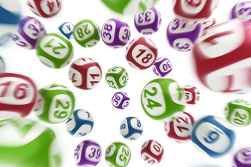 Flying lottery balls