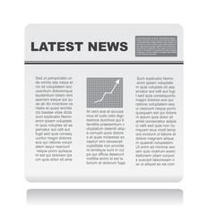 newspaper on vector