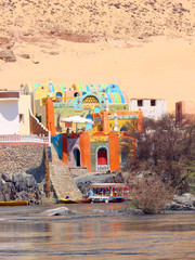 Colorful Nubian House on the River Nile