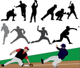 Baseball Illustration Set