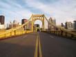 canvas print picture - Empty Pittsburgh Bridge
