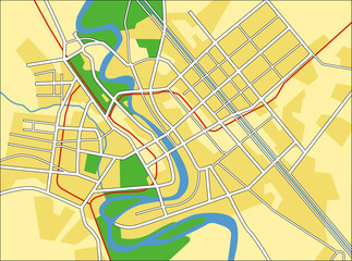 Vector map of Baghdad.