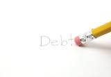 Erase your debt poster