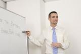 Fototapety 英会話の授業をする外国人講師
