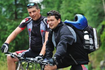 friendshiop outdoor on mountain bike