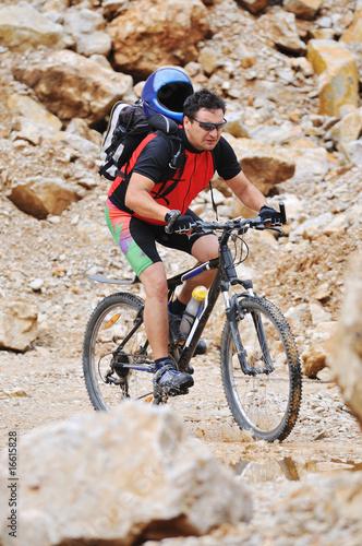 Deurstickers Fietsen mountain bike