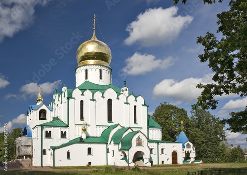 Russian cathedral with gold cupola
