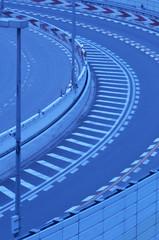 高速道路のカーブ