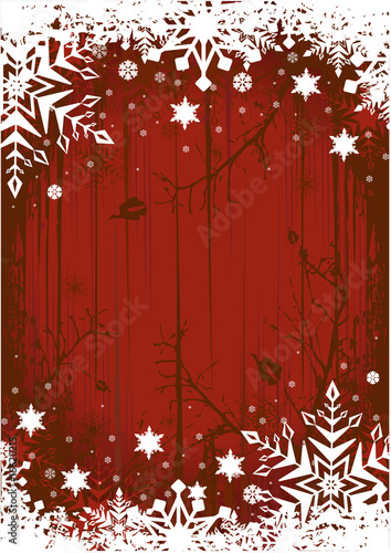 Grunge Winter Background
