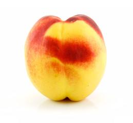 Ripe Peach (Nectarine) Isolated on White