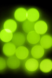 Abstract green bokeh lights poster