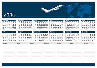 Calendário de Mesa - Secretary Planning - 2010