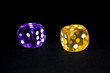 Dice purple and yellow 2